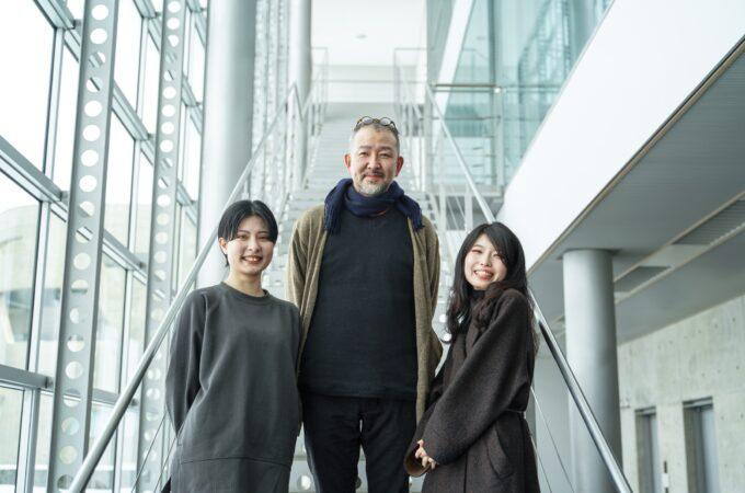 遠藤良太郎教授と学生